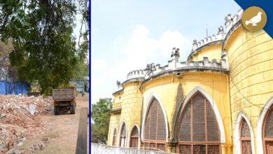 Photo of Portion of Asmangarh Palace demolished by St  Joseph's Public School