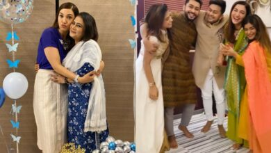 Photo of Zaid Darbar's fam welcome Gauahar Khan in the most adorable way!