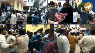 Photo of Mild tension at Lal darwaza, MIM, BJP workers clash