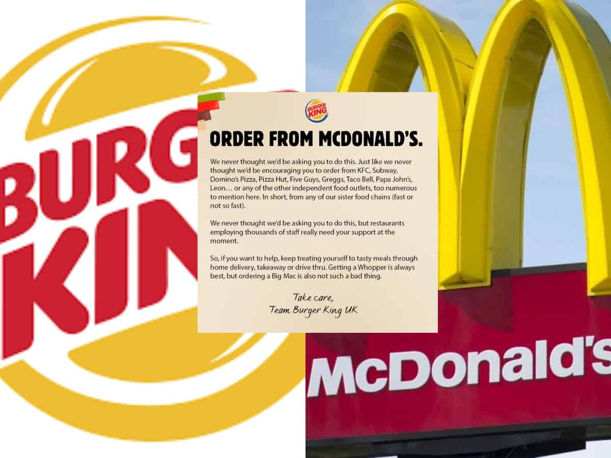 Why Burger King is urging customers to 'order from Mc Donalds, KFC'?