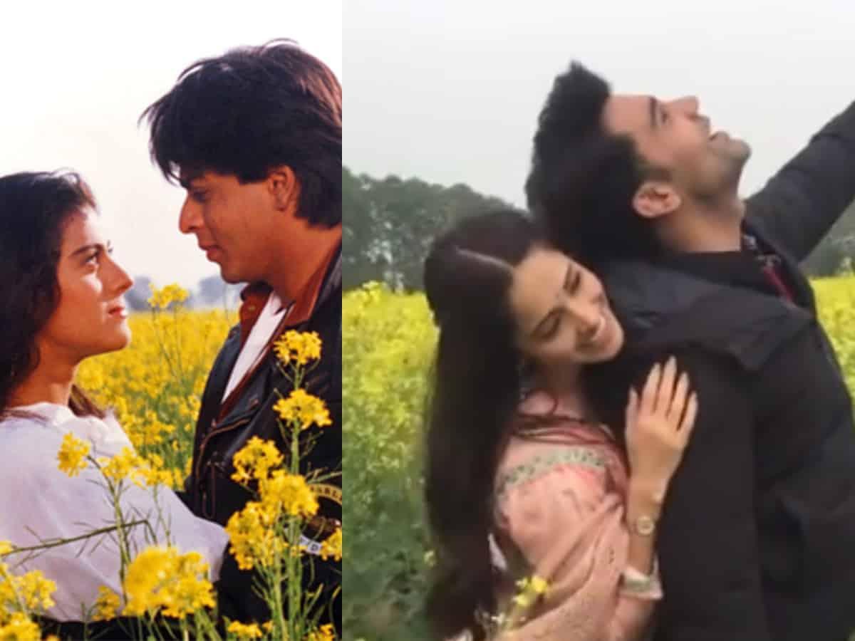 Watch: Rajkumar Rao, Nushrat Bharucha recreat iconic SRK & Kajol DDLJ scene