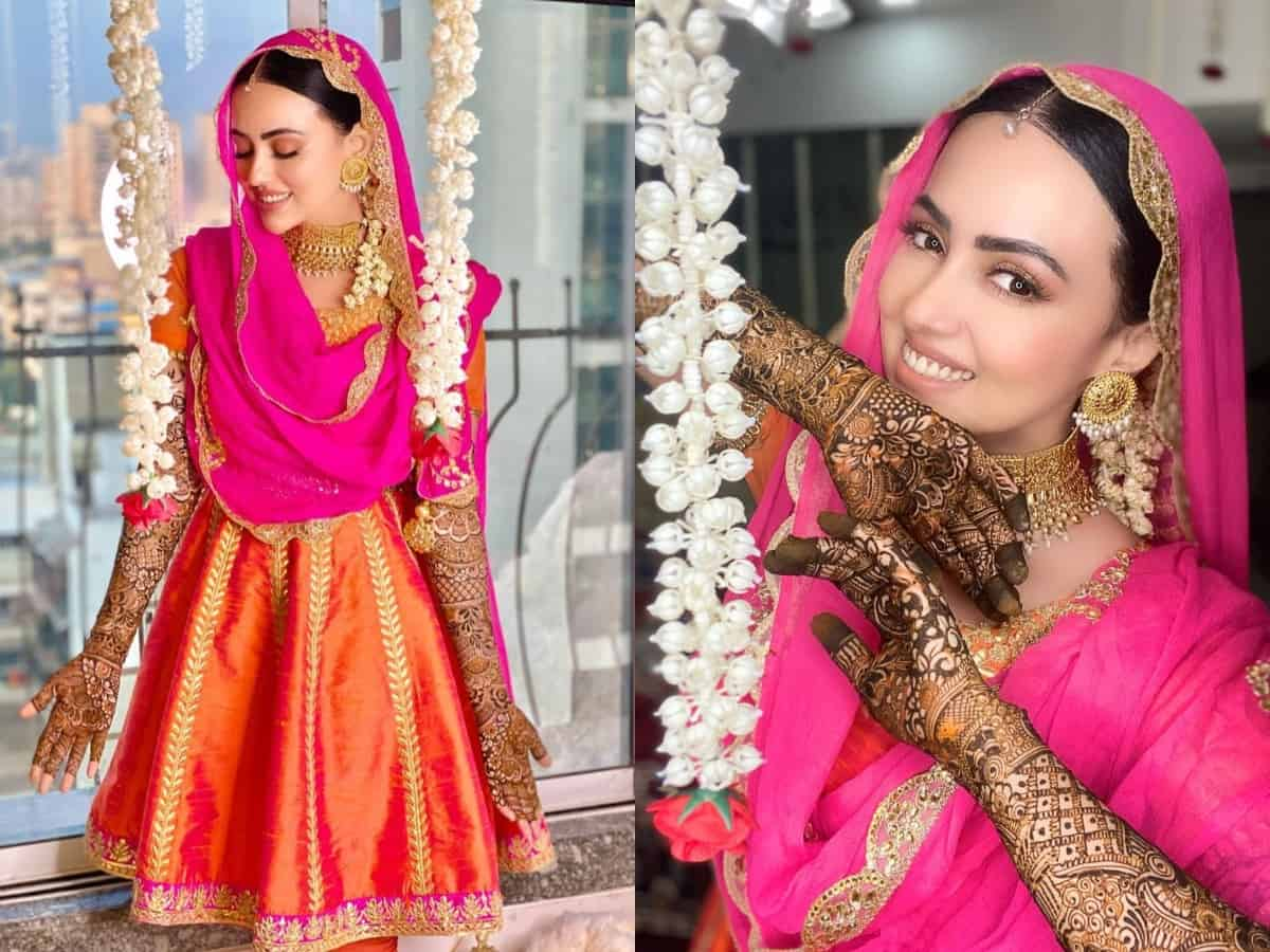 [PICTURES] Sayied Sana Khan shares more glimpses from her mehendi