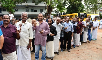 16% turnout in two hrs in 1st phase of Kerala local body polls