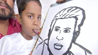 9-yr-old Telangana boy who lost limbs in accident now churns out artworks using mouth