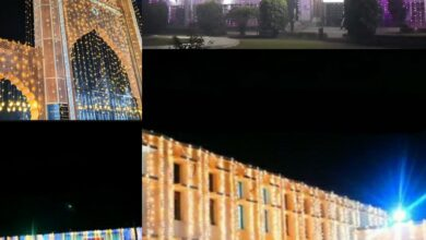 Aligarh Muslim University illuminated for its centenary celebrations