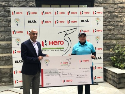 Amandeep wins eighth leg of WPGT by three shots; Seher second