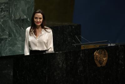 Angelina Jolie's message for victims of domestic abuse