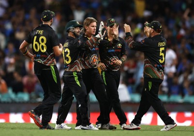 Aus register consolation win; India clinch T20 series 2-1 (Ld)