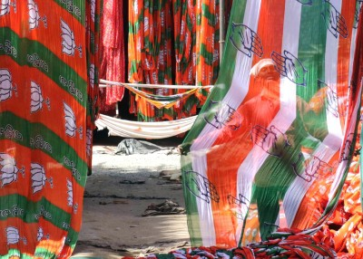 BJP & Congress workers clash at BJP headquarters in Jaipur