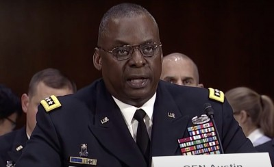 Biden introduces African-American ex-general as defence head pick