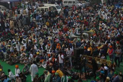 Bikers vroom roar in support of farmers at Singhu Border