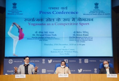Centre formally recognises yoga as competitive sport