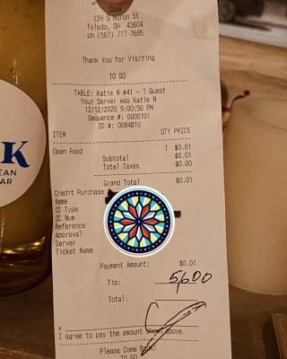 Customer leaves $5,600 tip at US restaurant