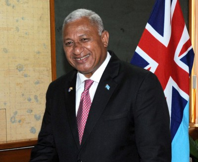 Fiji PM receives Champions of the Earth award