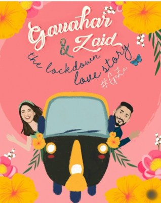 Gauahar Khan shares animated glimpse of lockdown love story with Zaid