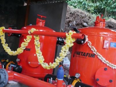 Israeli drip irrigation system set up in K'taka coffee estate