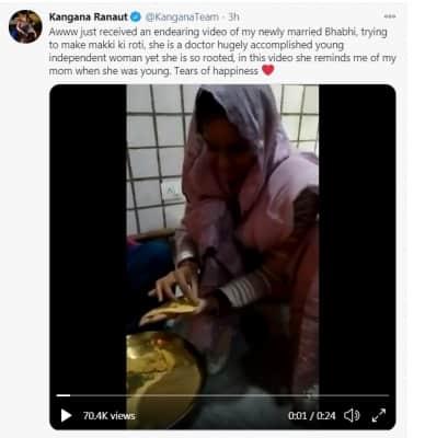 Kangana says 'rooted' bhabhi reminds her of mom