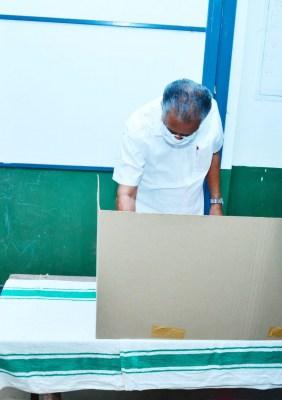 Kerala civic polls: Vijayan hopes for historic win, Cong too confident