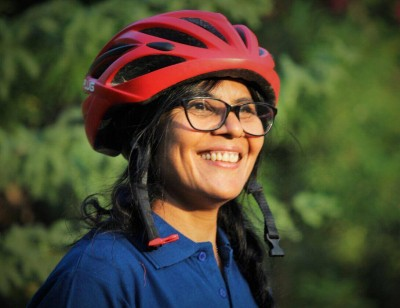 Meet the woman who choose a career in cycling at 51