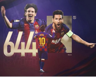 Messi moves past Pele to become top goalscorer for a single club