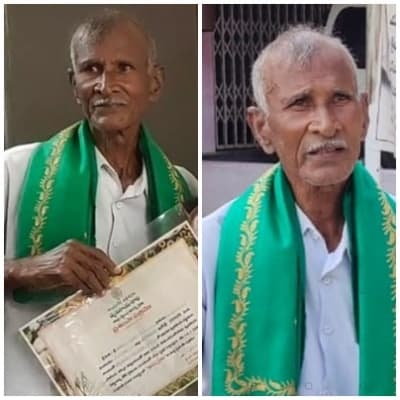 Model Andhra farmer returns honours protesting farm laws