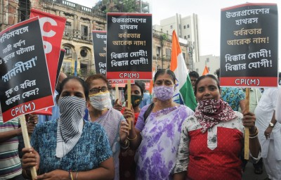 Opposition parties march to support farmers in Bihar, burn Modi effigy