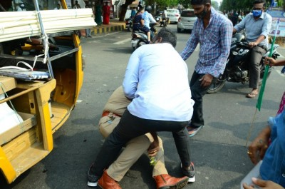 Police caught up in Andhra political crossfire