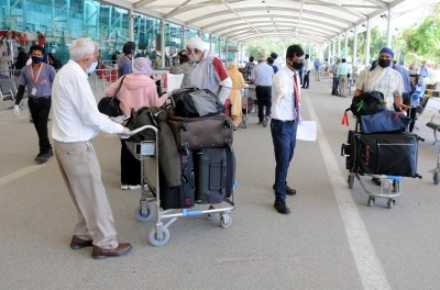 Protest at Amritsar airport over delay in Covid-19 tests