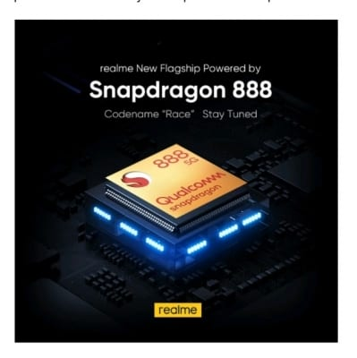 Realme announces 'Race' phone with Snapdragon 888 5G chipset
