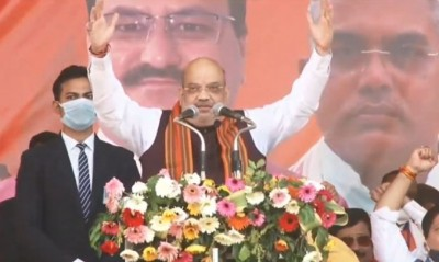 Shah reaches Guwahati to kick start BJP's Assembly poll campaign