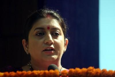 Smriti says Cong in same state as Rahul in Amethi