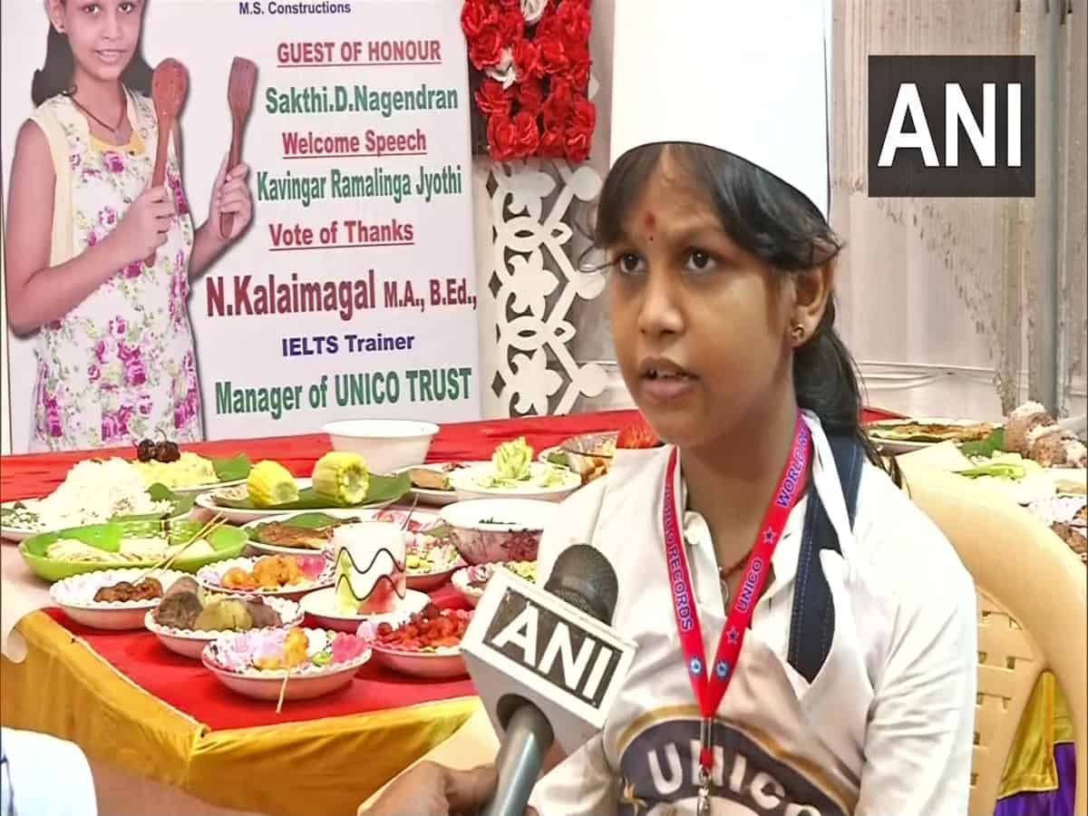 46 dishes in 58 minutes: Tamil Nadu girl creates world record