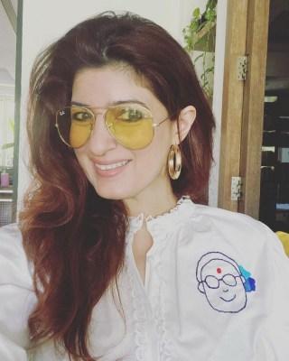 Twinkle Khanna flaunts her embroidery work