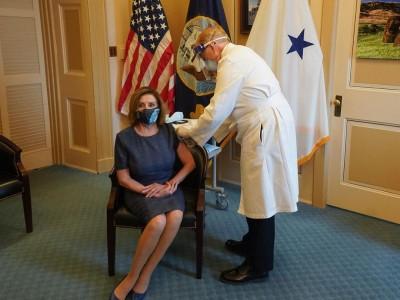 US House Speaker Pelosi gets Covid-19 vaccine