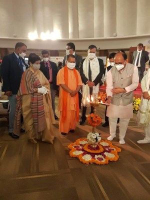 Yogi Adityanath rings the bell at BSE