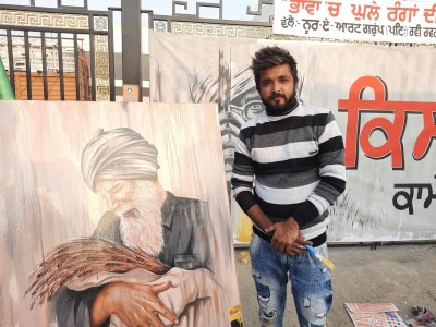 Young artists extend support to farmers through paintings