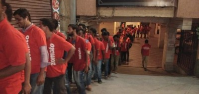Zomato flushed with orders on New Year's Eve