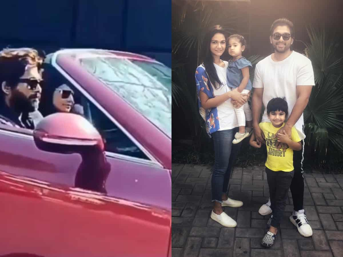 Spotted: Allu Arjun and family take a Bentley ride on Hyderabad roads