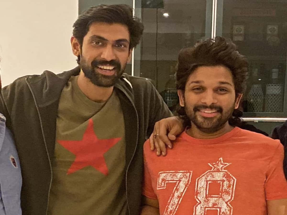Allu Arjun wishes Rana Daggubati on his b'day, calls him 'fire'