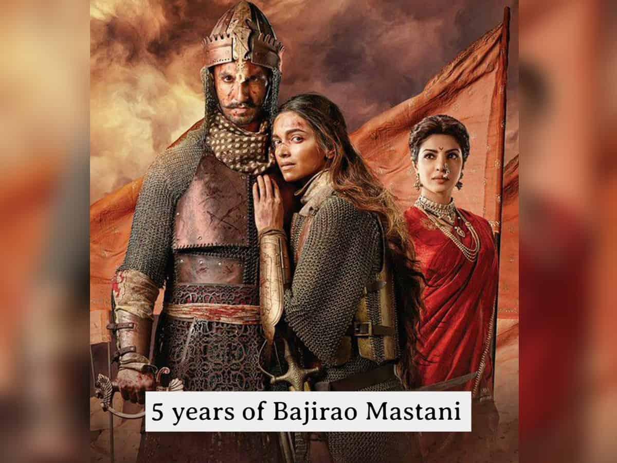 5YearsOfBajiraoMastani: Bhansali productions pay tribute to Kashibai, Bajrirao and Mastani