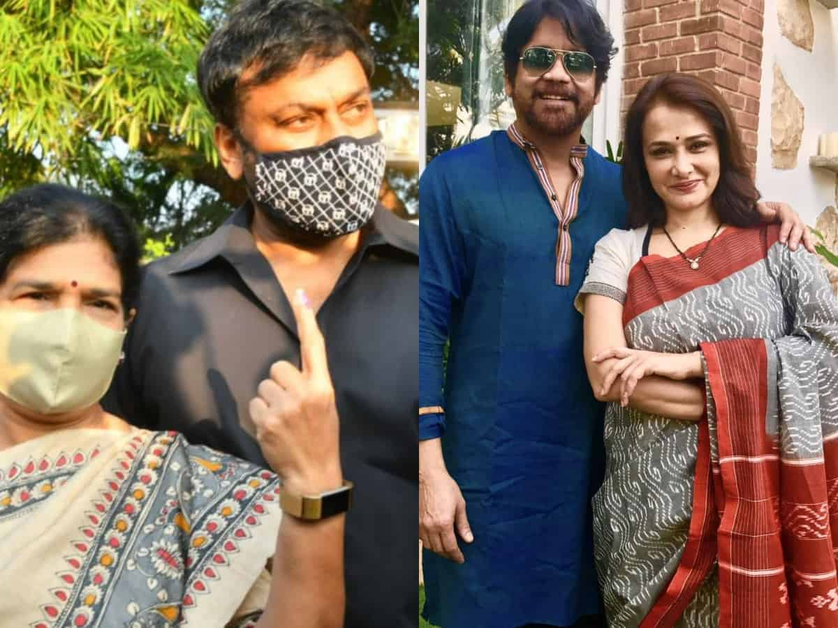 GHMC Elections 2020: Chiranjeevi, Nagarjuna & other celebs cast their votes
