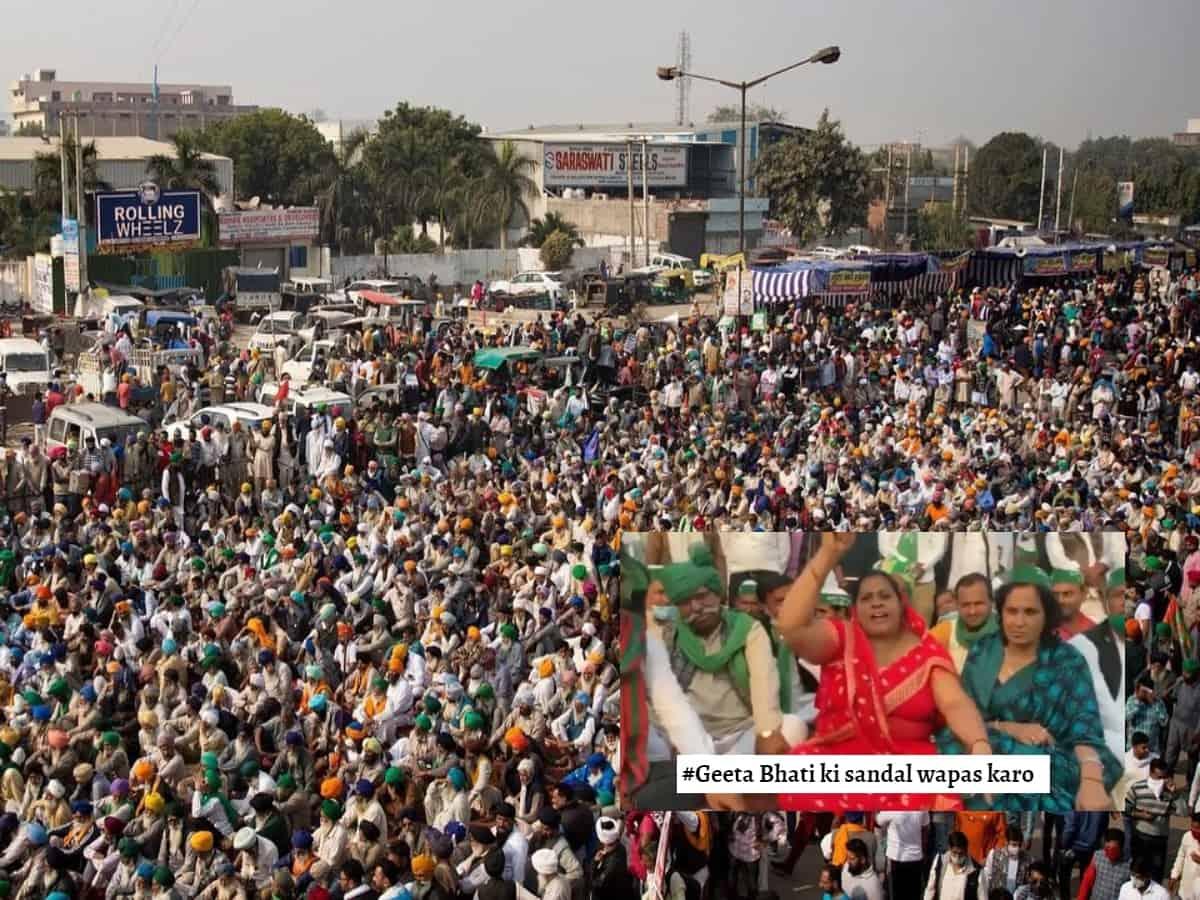 Farmers' protest: 'Geeta Bhati Ki Sandal Wapas Karo' trends after bizzare video goes viral