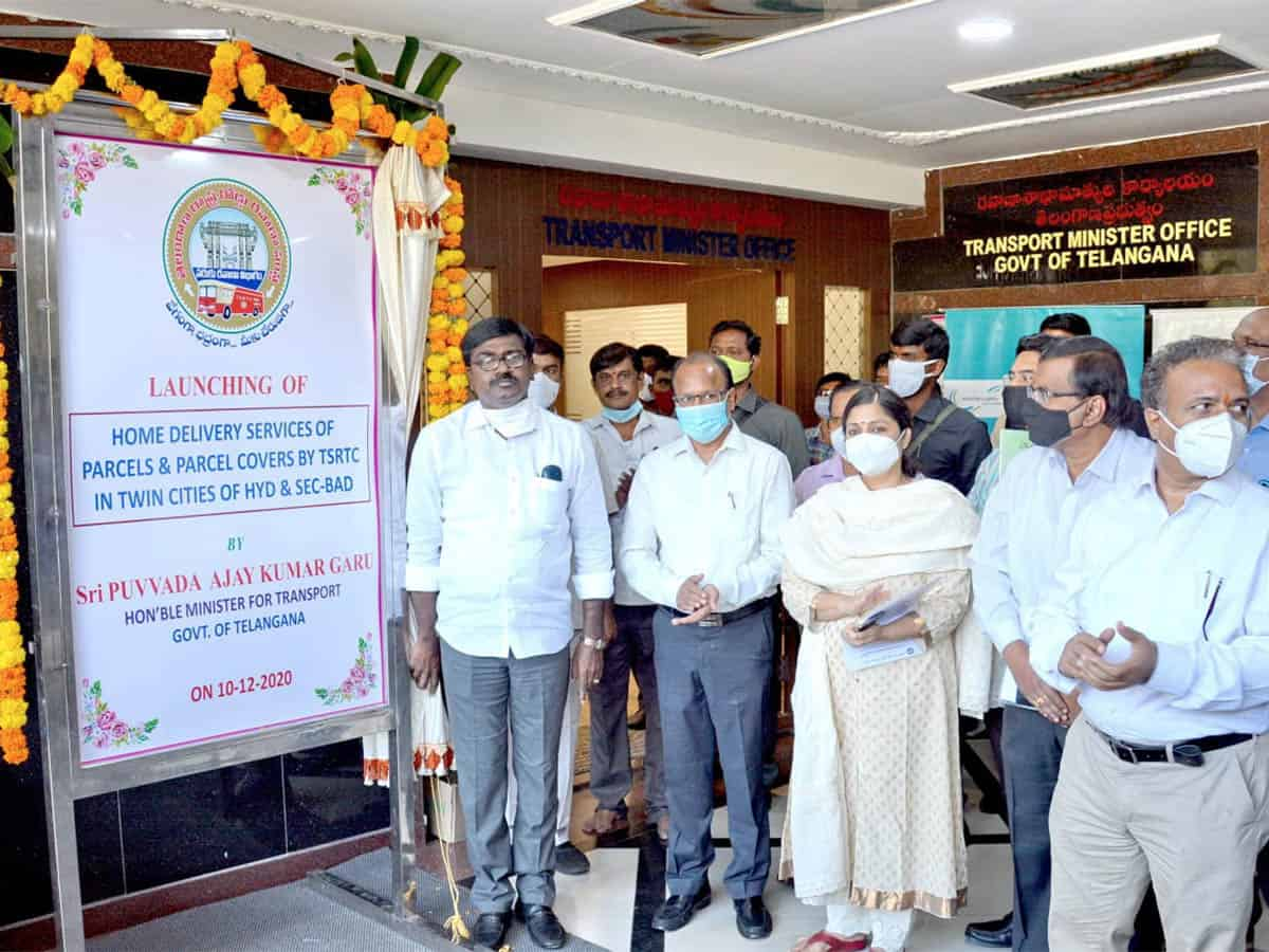 TSRTC launches home delivery services in Hyderabad, Secunderabad