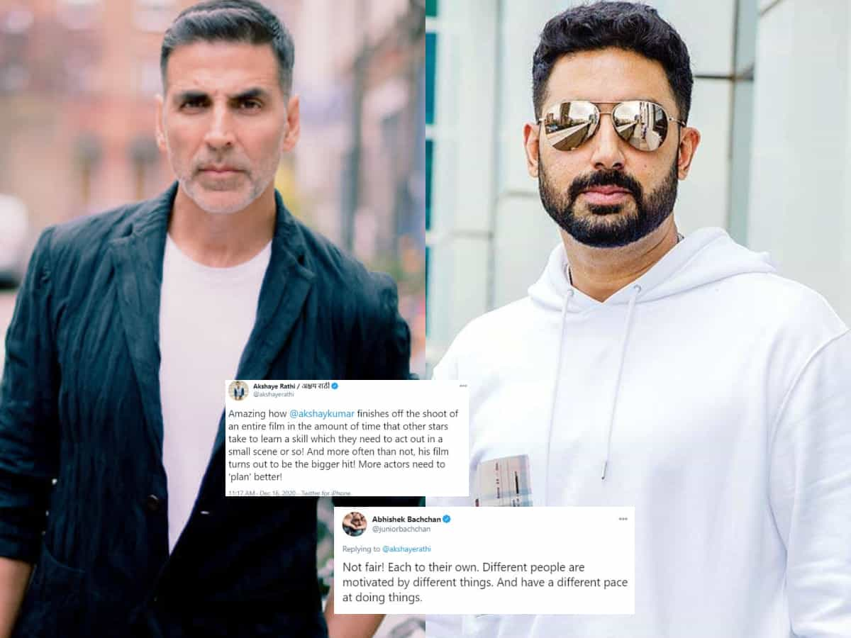 Jr. Bachchan argues with film exhibitor who pulled down other stars to praise Akshay