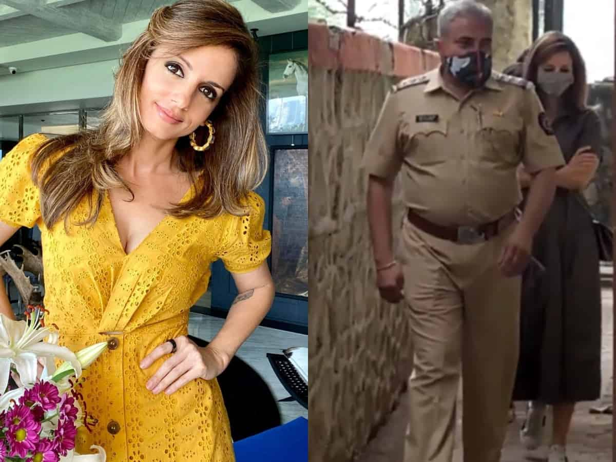 Watch: Hrithik's ex-wife Sussanne Khan snapped at Bandra police station