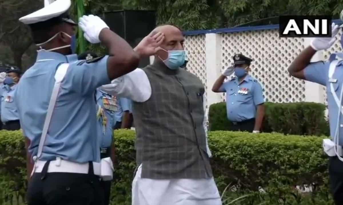 Telangana: Rajnath Singh attends graduation parade at Airforce academy in Dundigal
