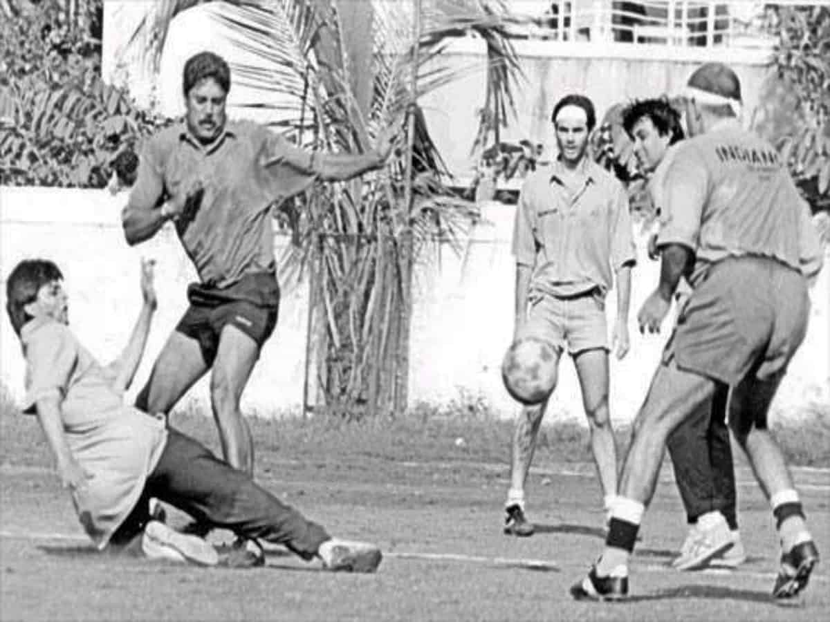 When SRK gave tough competition to Kapil Dev in football match