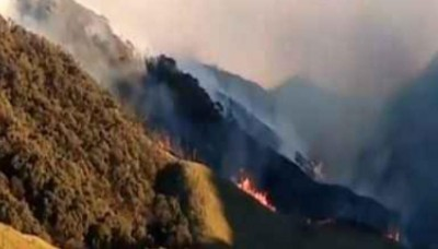 Fight against wildfire on in Nagaland-Manipur, NDRF man found dead