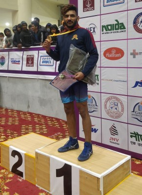 A star is born: Sandeep Singh steals gold at wrestling nationals