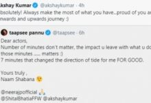 Akshay to Taapsee: Proud of you, your journey
